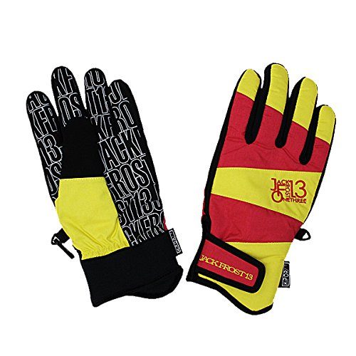 JACKFROST13(ジャックフロスト13)スノーボードグローブ GIMMICK GLOVE 手袋 JFA95000 056273(RED/YELLOW) M