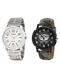 Relish Analog Round Casual Wear Watches For Men Combo - B01ANCDJW0