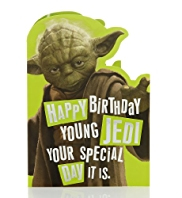 Star Wars™ Yoda Birthday Card