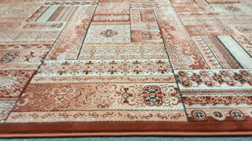 Dark Rust Sepia Gray Silver Color 8'x10' Classic Remote Old world Traditional Design Hand Carved Thick Pile High Density Carpet Area Rug Floor Mat Livingroom Bedroom 5050