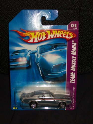 - Hot Wheels 2008-133 Team: Muscle Mania 1 of 4 Pontiac GTO Judge 1:64 Scale