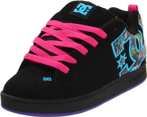 DC - Womens Court Graffik S W Cupsole Shoe, UK: 7 UK, Black/Graffiti Print