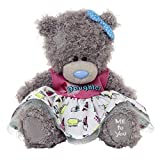 Me to You 6-inch Tatty Teddy Bear Wearing a Daughter Dress and Bow (Grey)