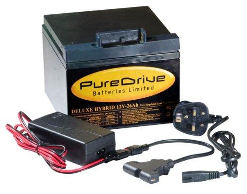 Powakaddy Compatible Golf Battery  &  Charger 12v-26Ah (T-Bar)