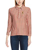 Lacoste Camisa Mujer (Granate / Crema)