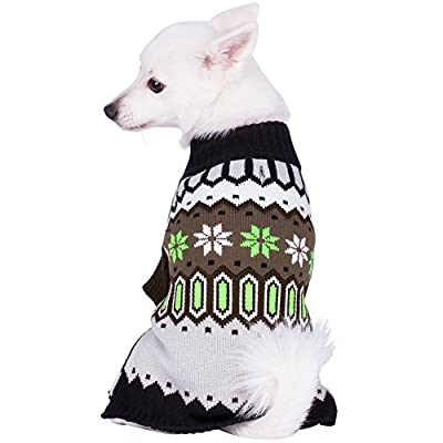 Blueberry Pet Clothes for Dogs Nordic Fair Isle Dog Sweater