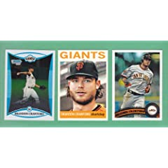 Brandon Crawford (3) Card Baseball Lot including 2008 Bowman Chrome (Rookie Card)... by Topps