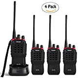 Greaval G-777 Long Range Walkie Talkies 4 Pack Rechargeable FRS/GMRS Radios 16-CH for Home Warehouse Outdoor Use (4 Pack)