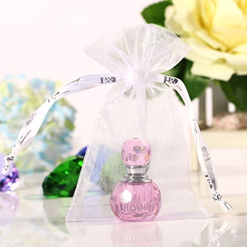 H&D Victorian Pink Vintage Crystal Empty Decor Mini Refillable Perfume Bottle 4
