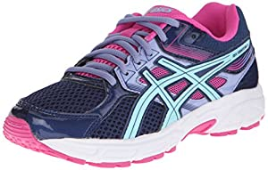 ASICS GEL-Contend 3 GS Running Shoe (Little Kid/Big Kid), Indigo/Aqua/Pink, 2 M US Little Kid