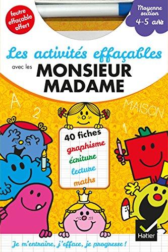 Collection Monsieur Madame (Mr Men & Little Miss): Les Activites Effacables (French Edition)