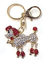 Swarvoski Crystal Red Poodle Keychain