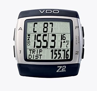 VDO Z2PC Link Heart Rate Monitor and Cycle Computer with PC Syncing Cable and Training Analysis Software by VDO