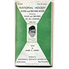 National Hockey Guide and record book 1933-1934 by James Hendy