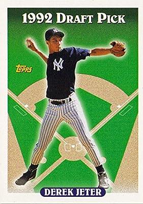 1993 Topps # 98 Derek Jeter (RC) - New York Yankees - Rookie Baseball Card In Protective Display Case