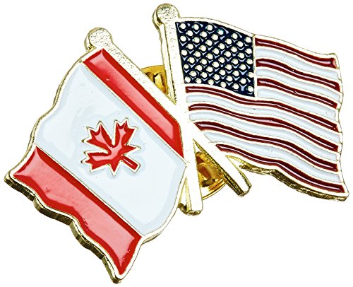 US Flag Store Canada Flag - Left - and USA Flag - Right - Lapel Pin (Canada Usa Flag compare prices)