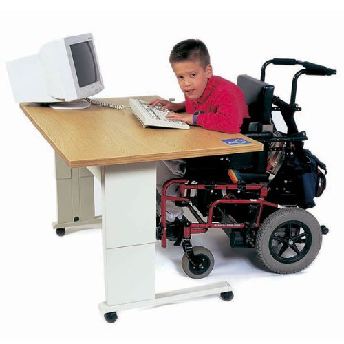 Buy Low Price Comfortable EQUITY Accessible Computer Workstation with Hand Crank Adjustment DS (B000YL625C)