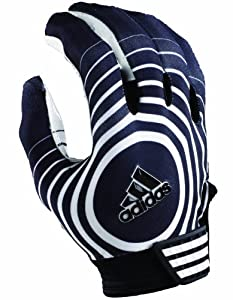Adidas Supercharge Football Receiver Glove (Black/White, Small)