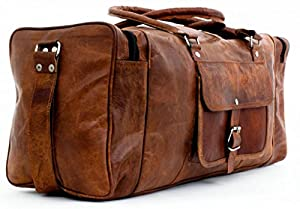 Phoenix Craft 24 Inch Large Duffel Bag Travel Gym Sports Overnight Weekend Leather Bag ... from Phoenix Craft