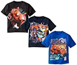 Disney Little Boys' Big Hero 6 Boys 4-7 Assorted Tee 3-Pack