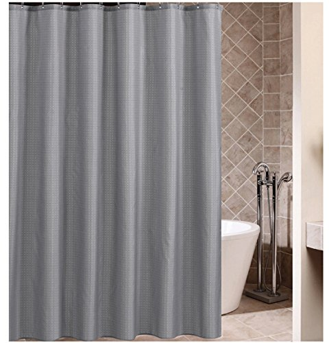 Eforcurtain Heavy Weight Checkered Pattern Shower Curtain Durable Mildew Free Fabric Bath With Hooks