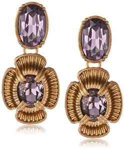 """Napier """"Vintage Garden"""" Gold-Tone Pierced Drop Earrings"""