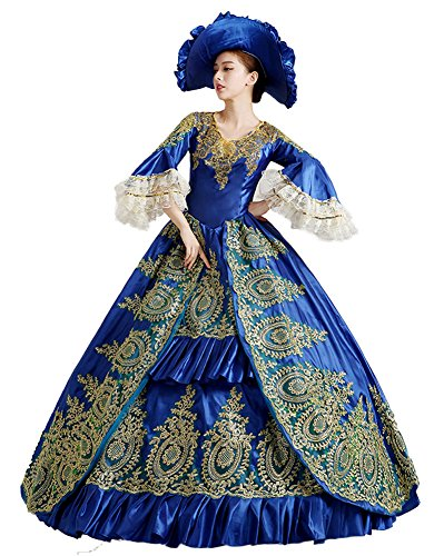 [Zukzi Women's Prom Gothic Victorian Fancy Palace Masquerade Dresses, 0592 US 16] (Medieval Fancy Dress Plus Size)