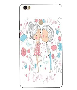 Case Cover Love Printed White Hard Back Cover For Xiaomi Redmi MI MAX