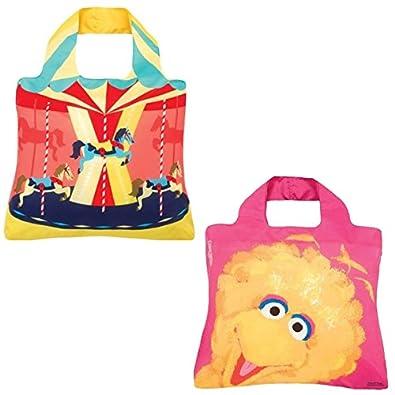 Envirosax Reusable Shopping Bag Set of 2, Carouse & Sesame Street