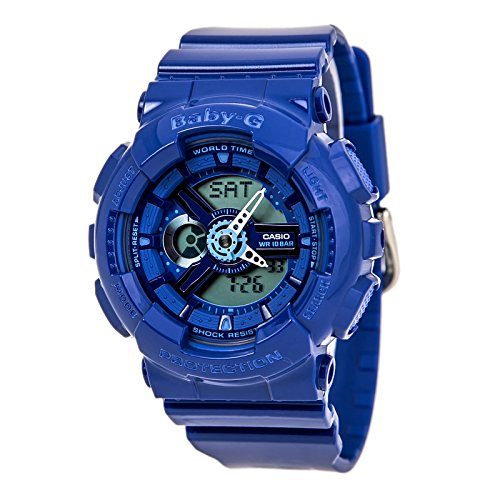 Casio Women'S Ba110Bc-2Acr Baby G Analog-Digital Display Quartz Blue Watch