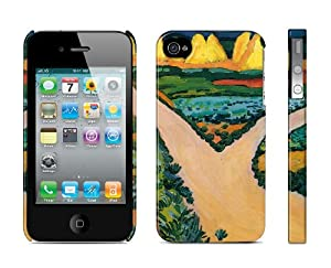 Iphone 4 / 4s Case Vegetable Fields - August Macke, 1911 Cell Phone Cover