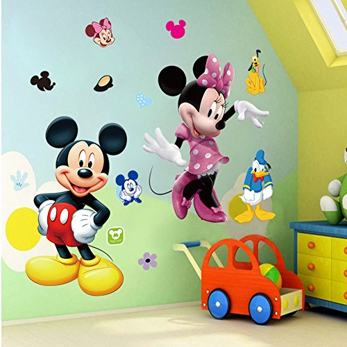 Mickey Mouse Wall Decal with Minnie and Donald Duck Clubhouse simba пупс minnie mouse