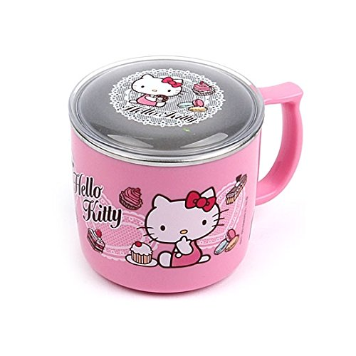 Lock & Lock Hello Kitty Baby Lace children Stainless steel Cup with Lid LKT483