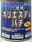 日本特殊塗料 nittoku 穴埋用 ポリエステルパテ グレー 1kg