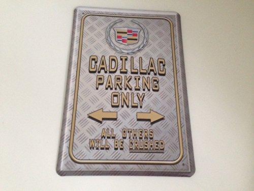 cadillac-parking-only-blechschild-20x30-cm-parkplatz-garage-carport-schild-21