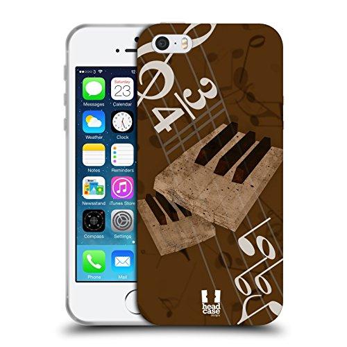 Head Case Designs キーボード ージック・ハーモニー ソフトジェルケース Apple iPhone 5 / 5s