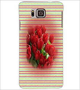 PrintDhaba Flowers D-3309 Back Case Cover for SAMSUNG GALAXY ALPHA (Multi-Coloured)