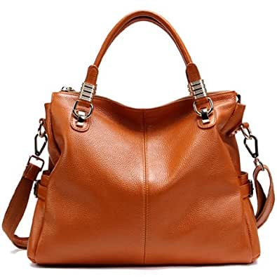 JiYe Womens 2P0951 1st Genuine Leather Leisure Shoulder Bag Brown
