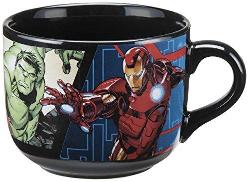 Vandor 26053 Marvel Avengers Assemble 20 Ounce Ceramic Soup Mug, Multicolored (Marvel Character Mug compare prices)
