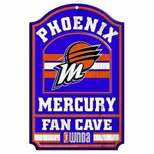 WNBA Phoenix Mercury Fan Cave Wood Sign, 11 x 17-Inch