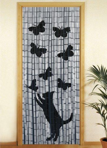 wenko 5123004500 bambusvorhang katze und schmetterling bambus cm mehrfarbig. Black Bedroom Furniture Sets. Home Design Ideas