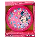 MINNIE BOWTIQUE DISNEY 10 WALL CLOCK: Quartz Accuracy, Easy Wall Mounting. Battery Operated Requires 1 AA Battery (Not Included