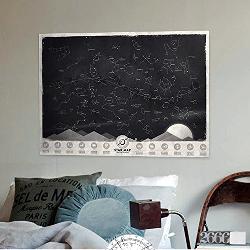 Star Map Glow in the Darkness Night Sky Constellations Zodiac Chart Poster Gift (Constellation Chart compare prices)
