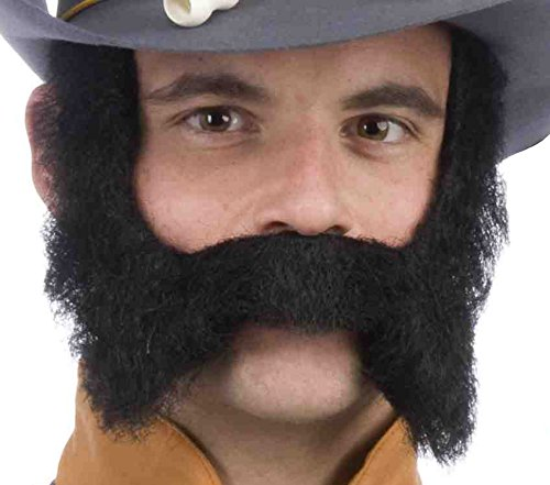Forum Novelties Men's Novelty Mustache and Sideburns, Black, One Size