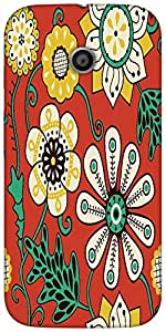 Snoogg colorful floral seamless pattern in cartoon style seamless patternHard Back Case Cover Shield For For Motorola E 2nd Generation / Moto E 2nd