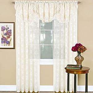Peach Couture Charming Sheer Jacquard Curtain