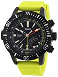 Timex Men's Intelligent Quartz T2N958 Yellow Resin Quartz Watch with Black Dial