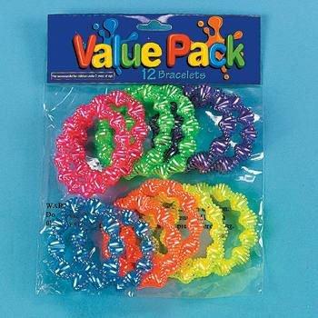 Neon Twist Bracelets (12 ct)