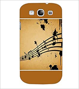 PrintDhaba Music Notes D-1428 Back Case Cover for SAMSUNG GALAXY S3 (Multi-Coloured)