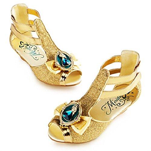 [DISNEY STORE BRAVE MERIDA GOLD GLADIATOR SANDALS COSTUME SHOES 2014 (13/1)] (Gladiator Costumes Shoes)